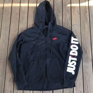 Vintage Nike full zip hoodie Large black tag